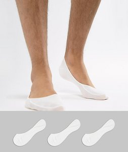 Read more about Polo ralph lauren 3 pack no show socks in white - white