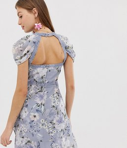 Read more about Forever new floral mini dress with laddering detail