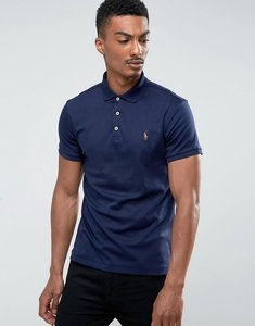 Read more about Polo ralph lauren pima polo slim fit soft touch in navy - navy