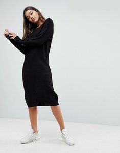 Read more about Noisy may longline knitted jumper dress - black