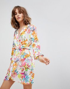 Read more about Love long sleeve wrap dress in bold floral print - bold floral