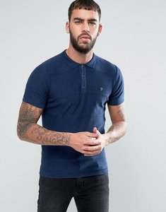 Read more about Farah oxford knitted polo shirt - blue