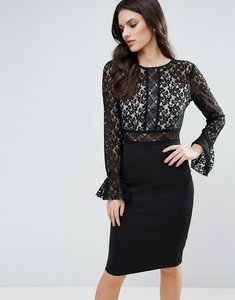 Read more about Ax paris pencil dress with lace body - black