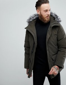 Read more about Devils advocate premium parka with japanese faux fur hood coat - green