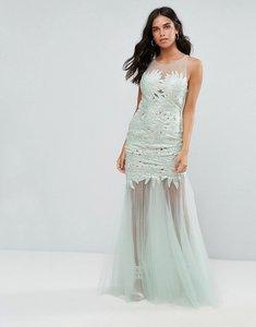 Read more about Forever unique lace insert maxi dress - mint