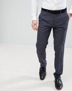 Read more about Farah skinny wedding suit trousers in navy fleck - navy