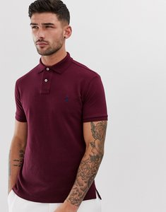 Read more about Polo ralph lauren pique polo slim fit player logo in burgundy