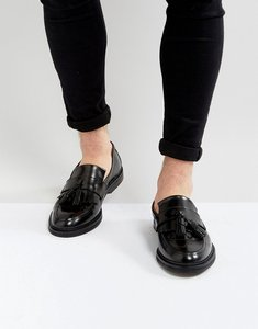 Read more about House of hounds dexie leather tassel loafers in black - black