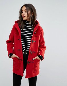 Read more about Gloverall classic mid length duffle coat - red old check
