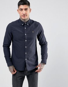 Read more about Farah brewer slim fit oxford shirt in navy - navy 454