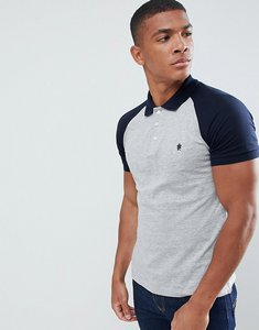 Read more about French connection raglan polo shirt - light grey mel