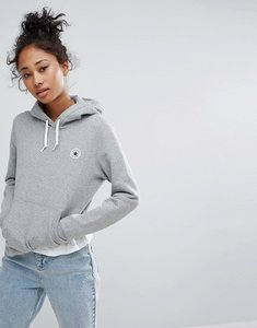 Read more about Converse hoodie with chuck patch in grey - grey heather