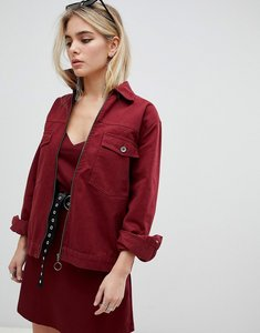 Read more about Kubban boxy denim jacket - oxblood