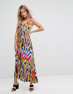 Read more about Warehouse rainbow graphic print maxi dress - multi