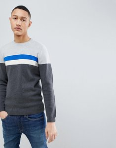 Read more about Esprit organic jumper with chest stripe - blue