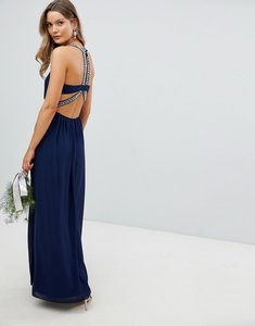 Read more about Tfnc embellished back detail maxi bridesmaid dress - navy