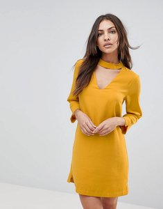 Read more about The english factory choker neck long sleeve dress - sunrose