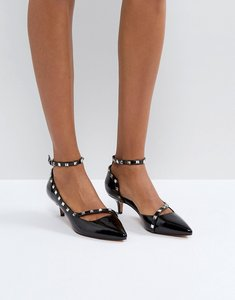 Read more about Asos sabre studded kitten heels - black