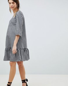 Read more about Mamalicious gingham dress - black white
