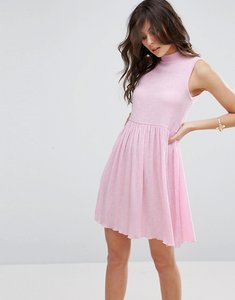Read more about Asos sleeveless smock dress in textured fabric - baby pink
