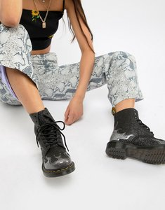 b7b750df4099 Read more about Dr martens 1460 pascal black glitter flame flat ankle boots