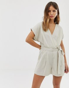 Read more about Noisy may linen button detail playsuit