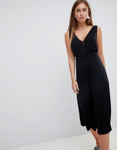 Read more about Miss selfridge jumpsuit with v neck in black - black