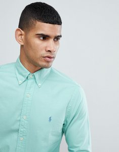 Read more about Polo ralph lauren slim fit garment dyed shirt polo player in light green - light green