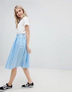 Read more about Glamorous pleated metallic skirt - light blue metallic