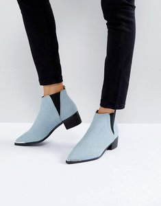 Read more about Asos admission pointed ankle boots - denim