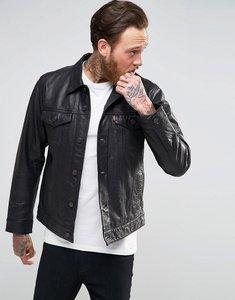 Read more about Levis black buffalo leather trucker jacket - black buffalo leathe