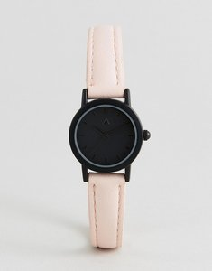 Read more about Asos mini tonal face and blush strap watch - multi