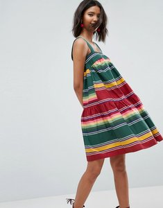 Read more about Asos smock sundress in summer stripe - multi