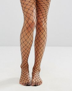 Read more about Jonathan aston black fishnet tights - black