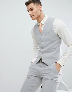 Read more about Asos design super skinny suit waistcoat in ice grey - ice grey