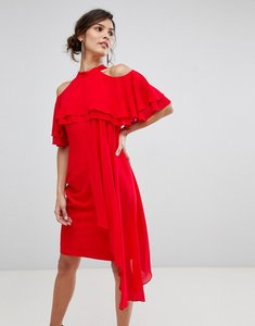Read more about Coast inez ruffle layered dress - red 84