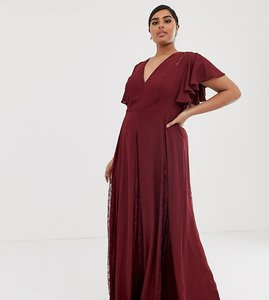 Read more about Asos design curve maxi dress with lace godet inserts