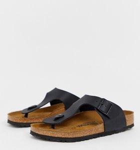 Read more about Birkenstock ramses birko-flor sandals in black