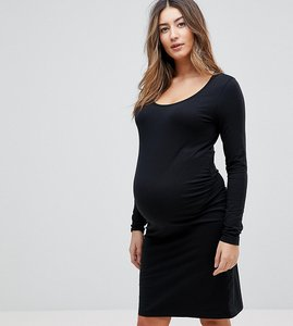 Read more about Mamalicious organic cotton long sleeve dress - black