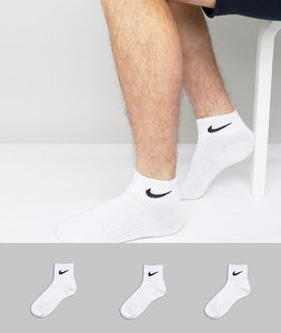 Read more about Nike 3 pack quarter socks in white sx4706-101 - white