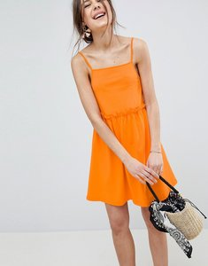 Read more about Asos design square neck smock sundress - orange