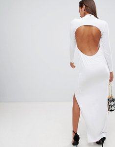 Read more about Asos design open back maxi dress - white