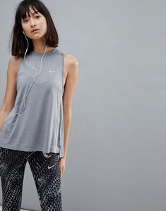Read more about Nike running dry miler tank in grey - gunsmoke htr reflec