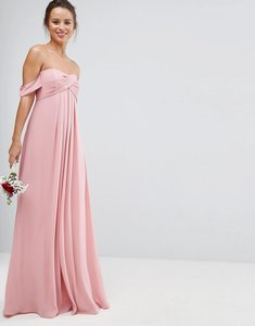 Read more about Asos wedding bandeau tie front maxi dress - pink