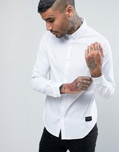 Read more about Criminal damage shirt in slim fit - white