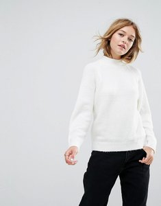 Read more about Asos jumper with wide sleeves in fluffy yarn - cream