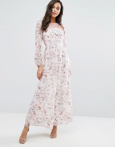 Read more about Miss selfridge lace and floral maxi dress - multi