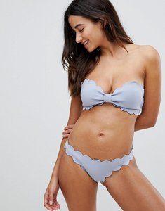 Read more about Y a s scallop bikini bottoms - blue