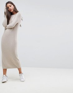 Read more about Asos eco knitted dress in super soft yarn - putty
