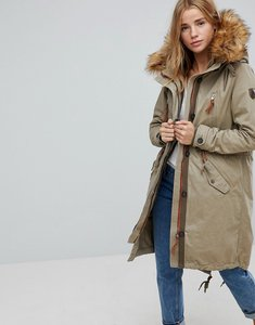 Read more about Only parka with faux fur lining - grey
